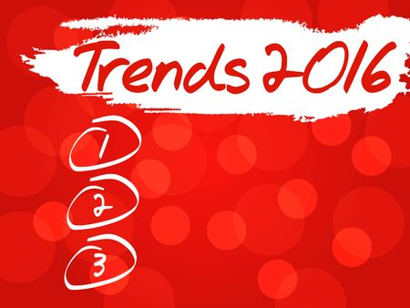 trends: Trends 2016 blank list, business concept