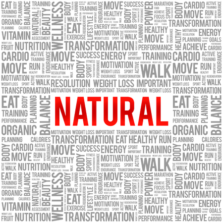 increase fruit: NATURAL word cloud background, health concept