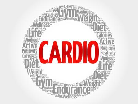 cardio: CARDIO word cloud, fitness, sport, health concept Illustration