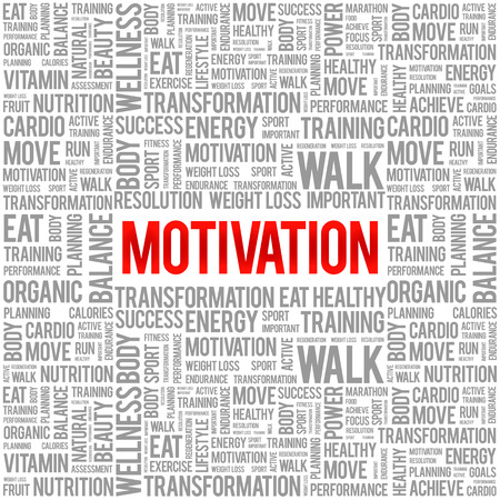 readiness: MOTIVATION word cloud background, health concept Illustration