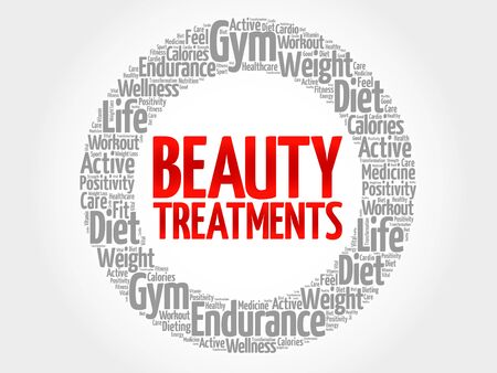 spa collage: Beauty Treatments word cloud, health concept Illustration
