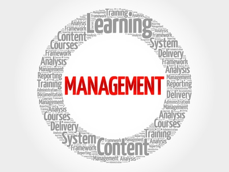 stakeholder: MANAGEMENT circle word cloud, business concept