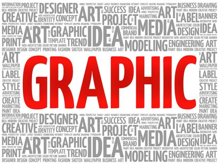 GRAPHIC word cloud, creative business concept background
