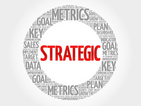stakeholder: Strategic circle word cloud, business concept background