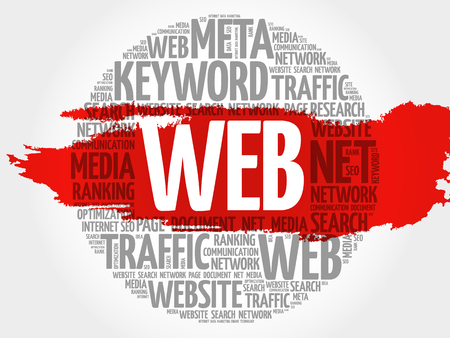 asp: WEB word cloud, business concept