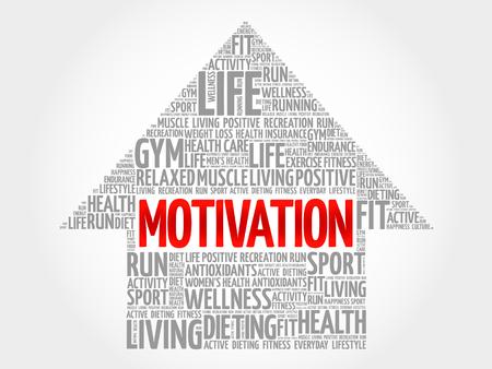 readiness: MOTIVATION arrow word cloud, health concept