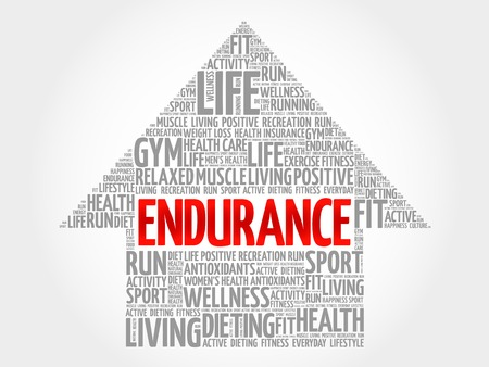 endurance: ENDURANCE arrow word cloud, health concept