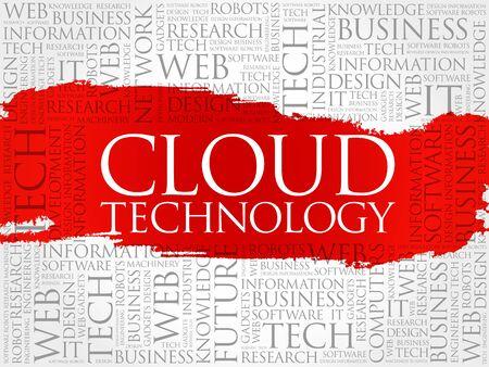 cloud technology: Cloud Technology word cloud concept Illustration