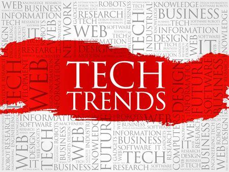 advanced computing: Tech Trends word cloud concept
