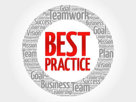 proficiency: Best Practice circle word cloud, business concept Illustration
