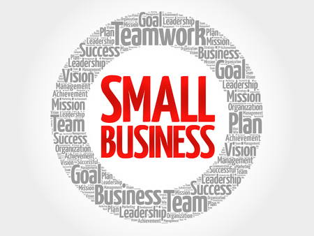 small business: Small Business circle word cloud, business concept Illustration