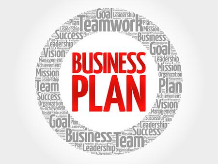 smart goals: Business Plan circle word cloud, business concept Illustration