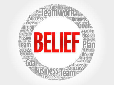 conduct: BELIEF circle word cloud, business concept Illustration