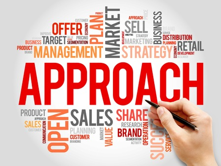 an approach: Approach word cloud, business concept
