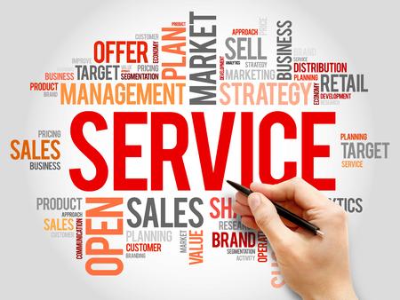 business service: SERVICE word cloud, business concept
