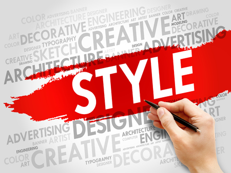 style: STYLE word cloud concept Stock Photo