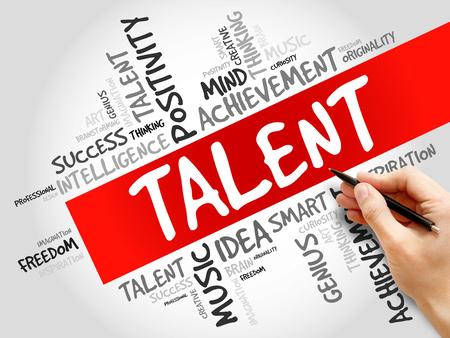 savant: Talent word cloud, business concept
