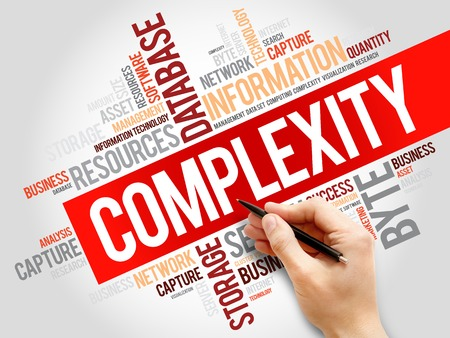 complexity: Complexity word cloud, business concept Stock Photo