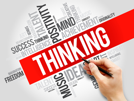 positivism: Thinking word cloud, business concept Stock Photo