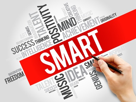 innovating: Smart word cloud, business concept Stock Photo