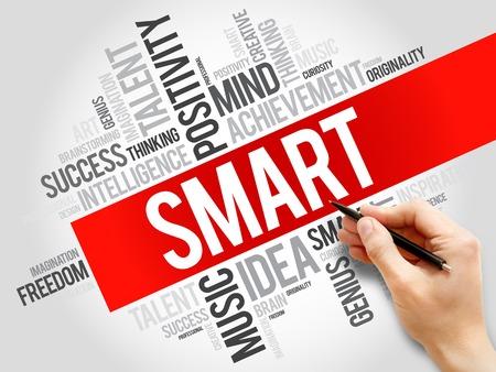 textcloud: Smart word cloud, business concept Stock Photo