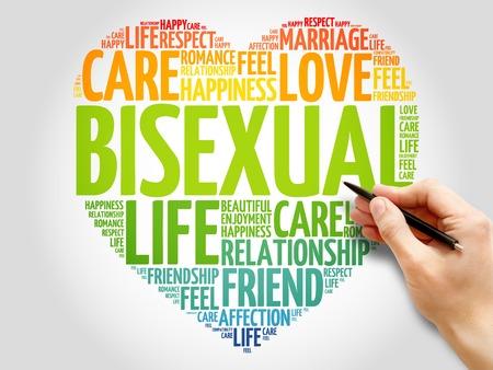 bisexual: Bisexual concept heart word cloud