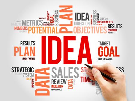 axiom: Idea word cloud, business concept Stock Photo