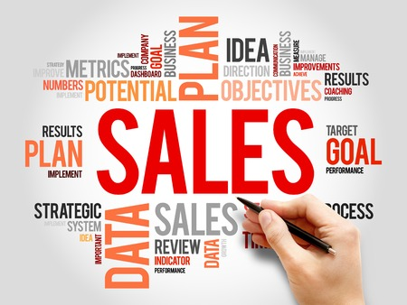 timeframe: Sales word cloud, business concept Stock Photo
