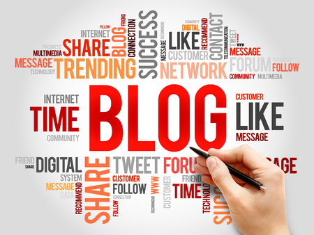 microblogging: Blog word cloud concept