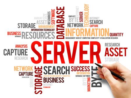 terminology: Server word cloud, business concept