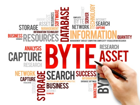 byte: Byte word cloud, business concept Stock Photo