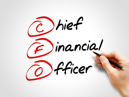 financial officer: CFO - Chief Financial Officer, acronym business concept