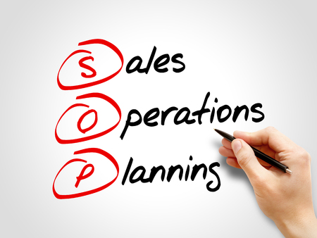 sop: SOP - Sales and Operations Planning, acronym business concept Stock Photo