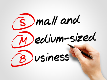 SMB - Small and Medium-Sized Business, acronym business concept Stock Photo - 56499319