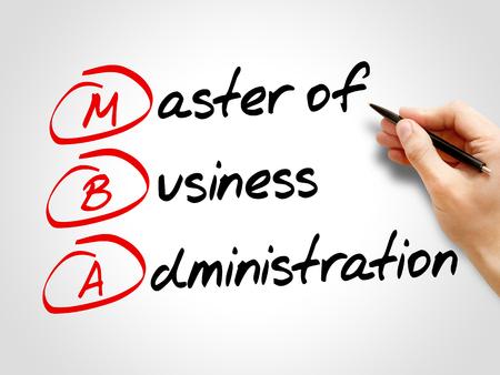 administracion de empresas: MBA - Master of Business Administration, concepto de negocio acrónimo Foto de archivo