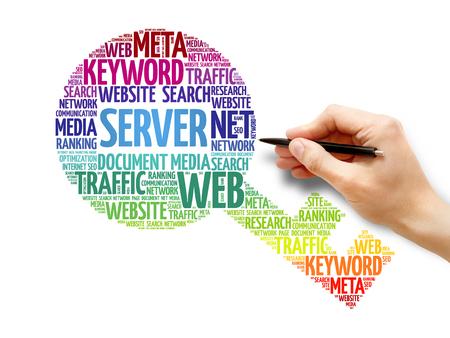 Server Key word cloud, business concept Stock Photo