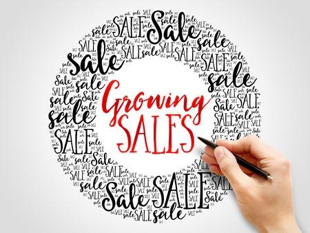 words cloud: Growing Sales words cloud, business concept background