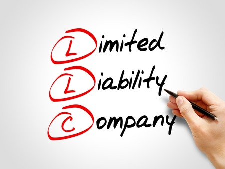 LLC - Limited Liability Company, acroniem business concept