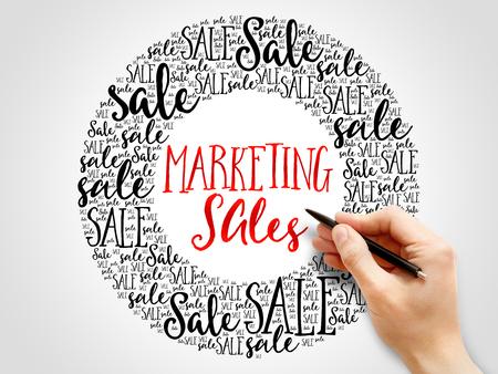 marketing concept: Marketing SALES words cloud, business concept background