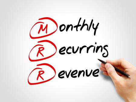 acronym: MRR - Monthly Recurring Revenue, acronym business concept