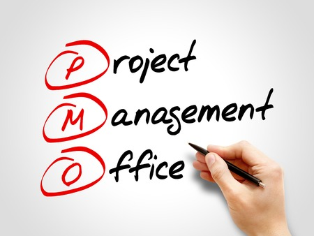 PMO - Project Management Office, acronym business concept