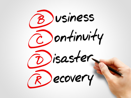 disaster recovery: BCDR - Business Continuity Disaster Recovery, acronym business concept
