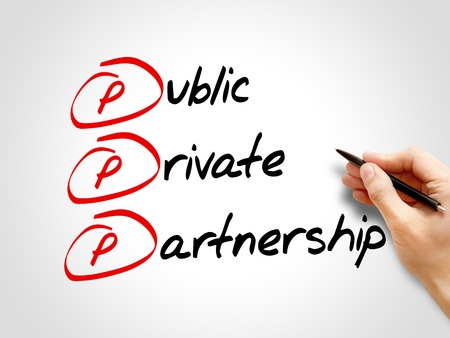 acronym: PPP - Public-private partnership, acronym business concept Stock Photo