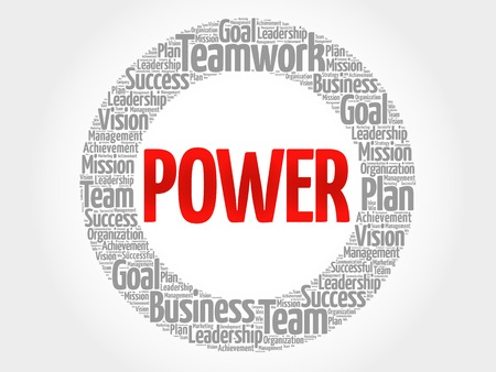 POWER circle word cloud, business concept Illustration