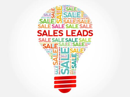 sociable: Sales Leads bulb word cloud, business concept background