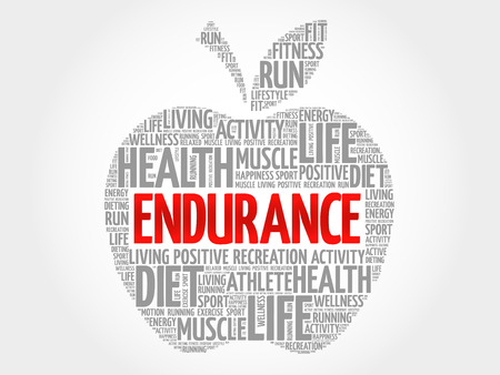 endurance: ENDURANCE apple word cloud, health concept