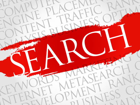 keywording: SEARCH word cloud, business concept