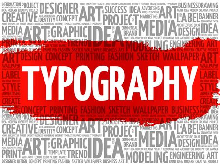 marketer: TYPOGRAPHY word cloud, creative business concept background Illustration
