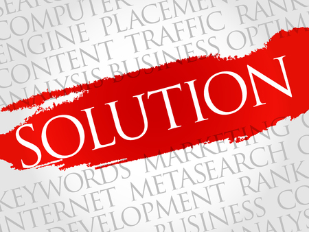 cognitive: SOLUTION word cloud, business concept Illustration