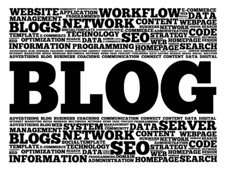 www community: Blog word cloud, business concept